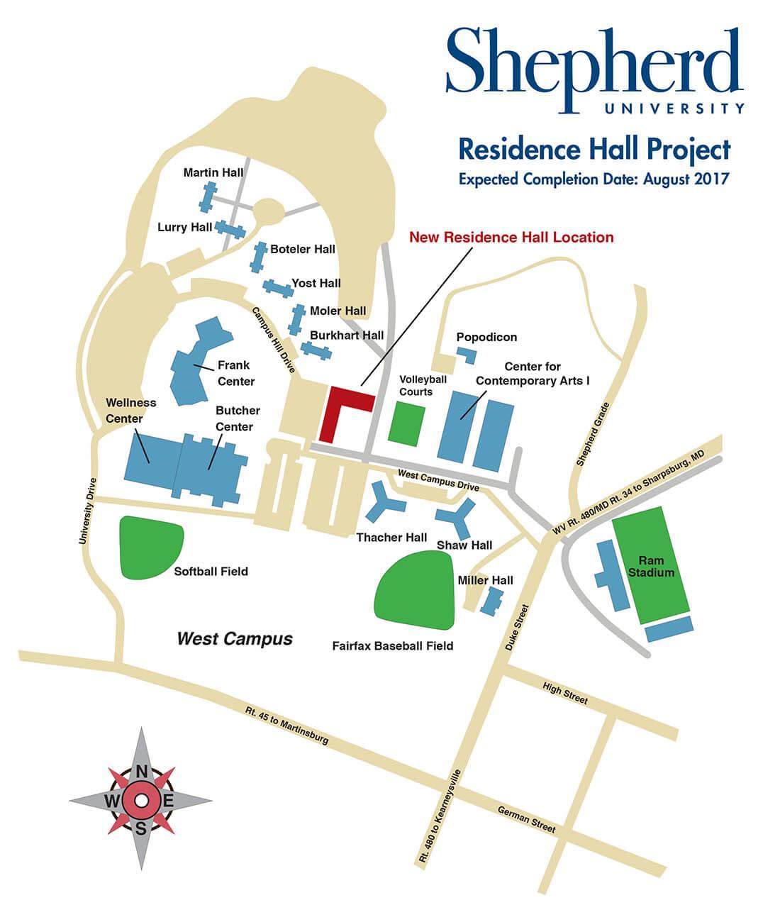 shepherd university campus map Shepherd University Potomac Place Rh Timeline shepherd university campus map